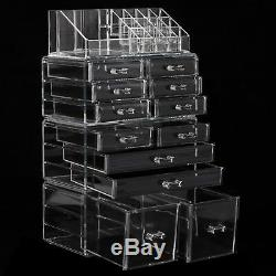 12-Drawers Makeup Cosmetic Jewelry Organizer Large Storage Display Boxes Case