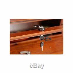 12 Gun Cabinet Display Key Lock Wood Firearms Storage Shotgun Long Rifle Safe