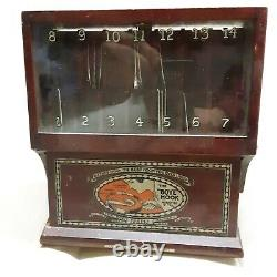 1919 Vintage Crochet hook Store Display from Boye Needle Company with10 hooks