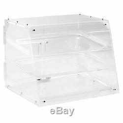 2 Pack PASTRY SELF SERVE DISPLAY CASE 3 TRAYS BAKERY DELI STORE CANDY MOVIE more