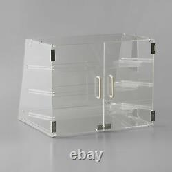 3 Tray Bakery Counter Display Case Rear Door Donut Pastry Cookie Store