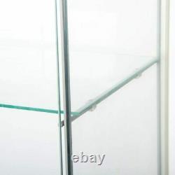 4 Shelf Glass Curio Bookshelf Display Cabinet Case Cabinet Tower Storage 64 New