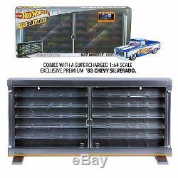 50th Anniversary Hot Wheels Display Case 83 Chevy Silverado Hold 50 Car Storage
