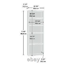 5-Shelf Bookcase Adjustable Contemporary Office Library Display Storage White