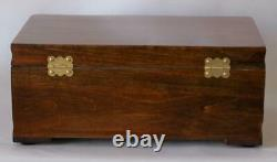 #848 Custom Built Solid Mahogany Fountain Pen Storage Display Chest Hand Crafted