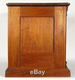 Antique19th Century Clark's ONT GOLD Glass spool thread Cabinet STORE Display