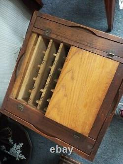 Antique 1880s J. P. COATS Country Store THREAD Spools ROTATING DISPLAY CABINET