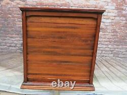 Antique 19th C. Roll Top Cheese Display Case General Store Mercantile Cabinet