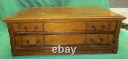 Antique 2 Drawer Spool Store Display Cabinet 6 Cord Cotton Thread