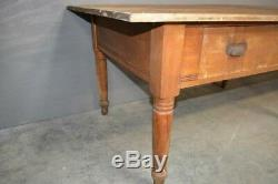 Antique 9 Foot Pennsylvania General Store Work Farm Table