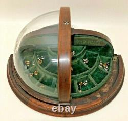 Antique Advertising Counter Top General Store Collar Stud Display Case King