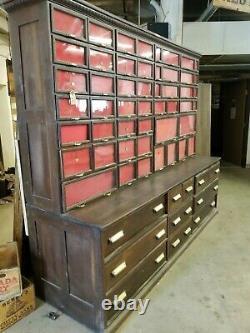 Antique American Hardware WARREN Cabinet Multi Drawer Display Storage