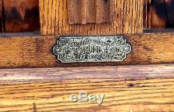 Antique American Oak Country Store Display Case, C. V. Hill & Co. & Joseph Knittel