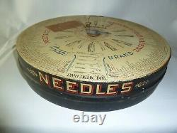 Antique BOYE Rotary Needle & Shuttle CASE / STORE DISPLAY Loaded with Needle Tubes