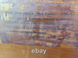 Antique Beldings Silk Thread Oak Spool Cabinet Store Display