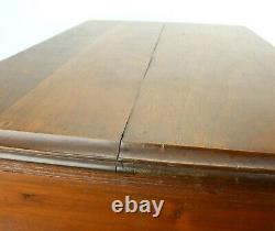 Antique CLARKS Sewing Spool Cotton Oak 2 Drawer Store Display Cabinet Original