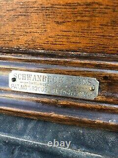 Antique Country Store Advertising Pie Display Case Showcase By Schwanbeck Bros