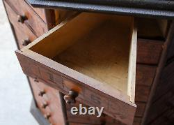 Antique Country Store Bolt and Screw Cabinet 1903