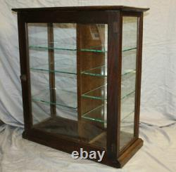 Antique Country Store Oak Showcase Counter top Display Case Shumate Razors