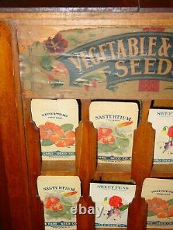 Antique D. M. Ferry country store seed display case & product-15640
