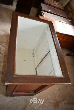 Antique General Store Display Case Cabinet