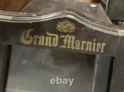 Antique General Store Display Case Grand Marnier liquor bottles Display Cabinet
