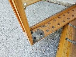 Antique General Store Exhibition Show Case Oak Ribbon Cabinet Showcase Display
