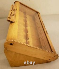 Antique Genuine Imported Briar Pipe Store Advertising Counter Table Display Case