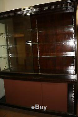 Antique Glass Enclosed Retail Store Display Case