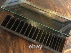 Antique HER-MAJESTY Super Lisle Elastic Display Case Country Store