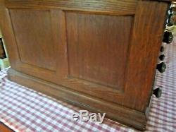 Antique J&P Coat's Spool Wooden Thread Spool 6 Drawer Cabinet Display Store Oak