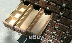 Antique OAK 45 Drawer Apothecary Country Store Hardware Parts Cabinet Chest Case