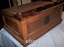 Antique Oak 4 Drawer J & P Coats Spool Cabinet Writing Desk General Store