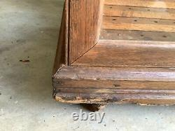 Antique Oak Oscar Onken Curved Glass Cane Case Display Country Store