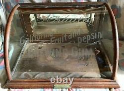 Antique PRIMLEY'S GUM General Drug STORE Soda Fountain ADVERTISING DISPLAY CASE
