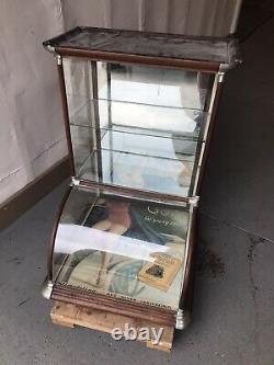 Antique Primitive Vtg Tower Showcase nickel Cigar Candy Apothecary Store