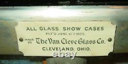 Antique Salesman sample country store display case-oak-glass-marble-15544
