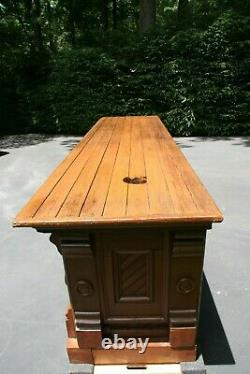 Antique Southern Heart Pine General Store Mercantile Sales Counter Ca. 1870's