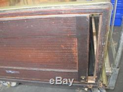 Antique Store Countertop Showcase / Display Case 72 Nickel Wood Glass