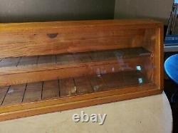 Antique W. R. CASE & SON'S Knife Store Display Cabinet Bradford Pa Advertising