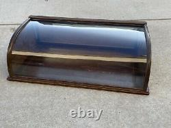 Antique Walnut Curved Glass General Store Counter Top Display Case Gum