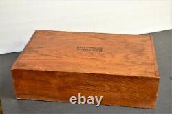 Antique Wooden 2 Drawer Spool CHEST CABINET Storage Belding Silk Tiger Oak 14.25