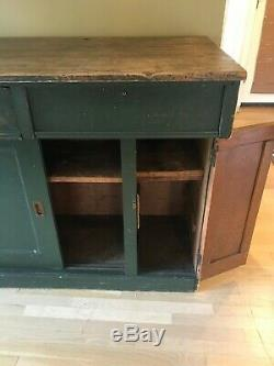Authentic Antique Country Store Counter Solid wood