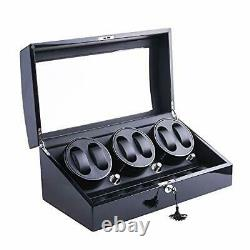 Automatic Rotating Watch Winder 6+7 Faux Leather Storage and Display Case