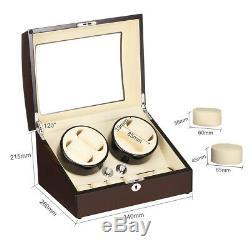 Automatic Rotation 4+6 Watch Winder Storage Case Display Box Wooden Case Luxury