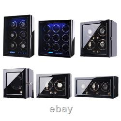 Automatic Watch Winder Box for 1-9 Watches Storage Case LCD Touch Screen Display