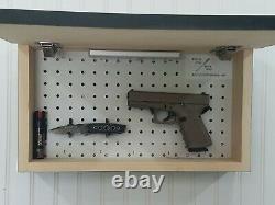 Black Burnt American Flag handgun concealment cabinet hidden pistol gun storage