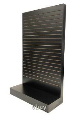 Black Tower Slatwall Unit Knock down Display Store Fixture #SC-SWL-BK