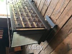 C1890 antique oak haberdashery store cabinet Phil PA 93.5 L x 39.5 h x 26 d