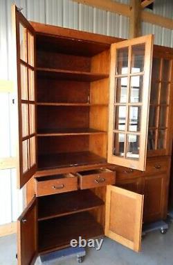C. 1945 General Store Full Wall Mercantile Cabinet / Display